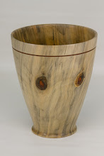 "Photo: Richard Webster 6 1/2"" x 8"" vase [Norfolk Island pine]"