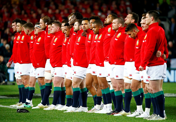 Lions players line up before a match againt the All Blacks in this June 24 2017 file photo. Picture: REUTERS/David Gray