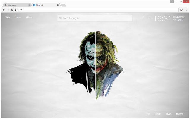 joker wallpaper hd new tab themes chrome web store