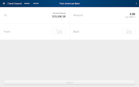 First American Bank Mobile screenshot 9