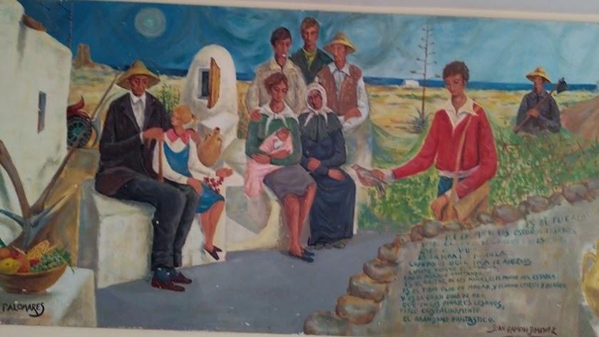 Pintura costumbrista de Palomares antes de la bombas.