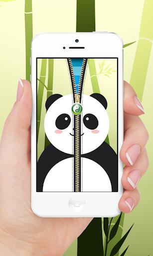 Cute Panda Wallpaper Zipper