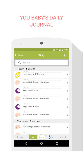 Breastfeeding Tracker Baby Log 1.3.8 screenshots 6