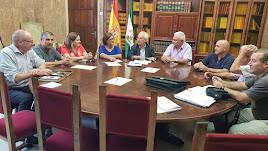 Reunión del pasado viernes entre la Asociación por la Defensa del Agua de Los Vélez y el subdelegado.