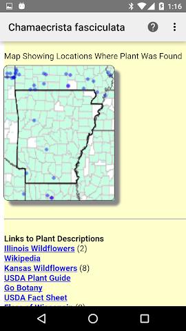 android Arkansas Wildflowers Screenshot 4