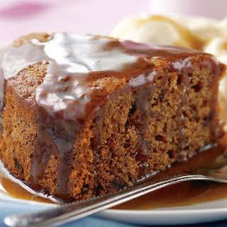 Gluten-Free Date Cake with Caramel Sauce.