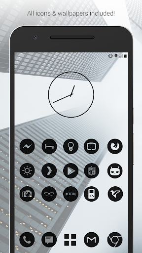 Dark Void - Black Circle Icons (Free Version) Apk Download Free for PC, smart TV