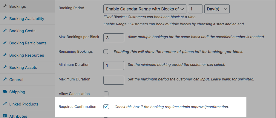 WooCommerce Bookings Confirmation
