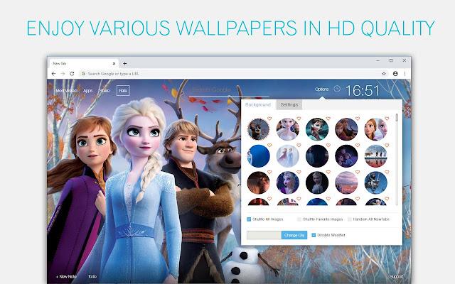 Disney Frozen Wallpaper HD Frozen New Tab