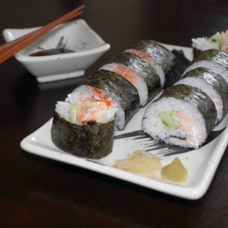Homemade Sushi with Smoked Trout