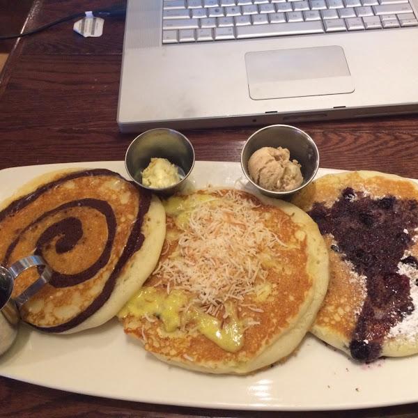 Cinnamon Hawaiian & chocolate chip pancakes!!!  This place is 40 minutes from my house and soooooo worth the drive!!!