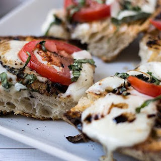 Open-Faced Grilled Caprese Sandwich.