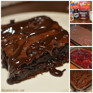 Chocolate Raspberry Dump Cake