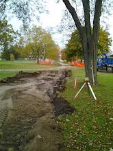 Photo: Path Excavation 10-29-2013