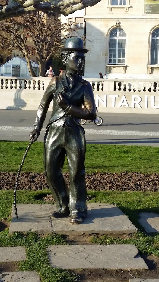 Statue Charlie Chaplin à Vevey
