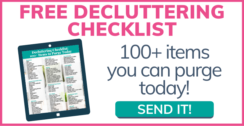 Click for Free Decluttering Checklist!