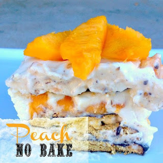 Peach No Bake Freezer Cake Recipe