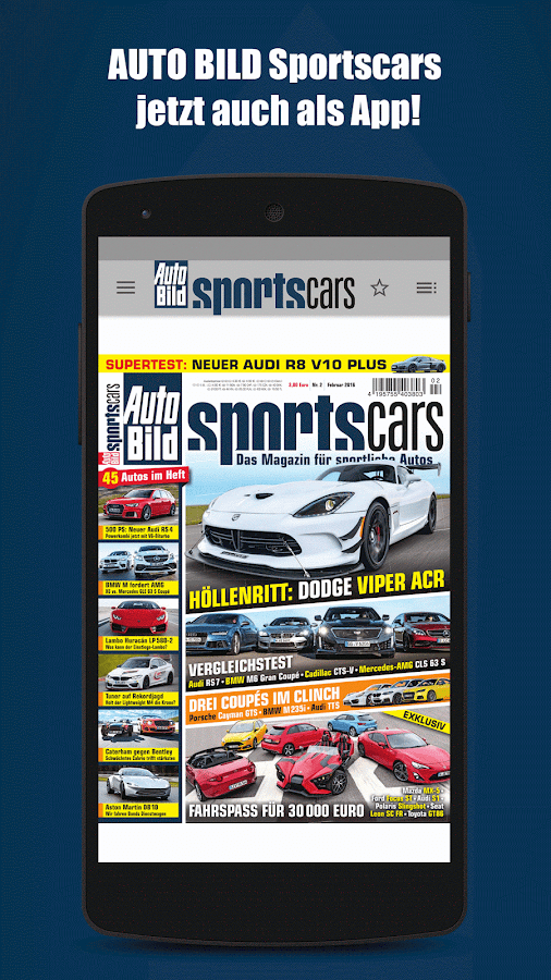 AUTO BILD Sportscars Reader- screenshot