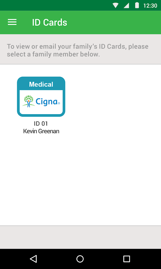 Cigna Envoy- screenshot