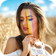 Rainbow photo Editor with Light Leaks Effect icon