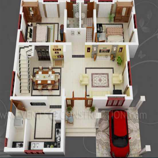 New 3D Small Home Plan Ideas