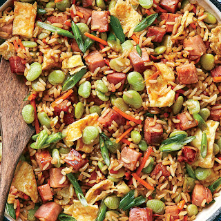 Ham and Lima Bean Fried Rice.