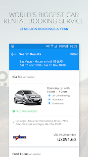 Rentalcars.com Car hire App- screenshot thumbnail