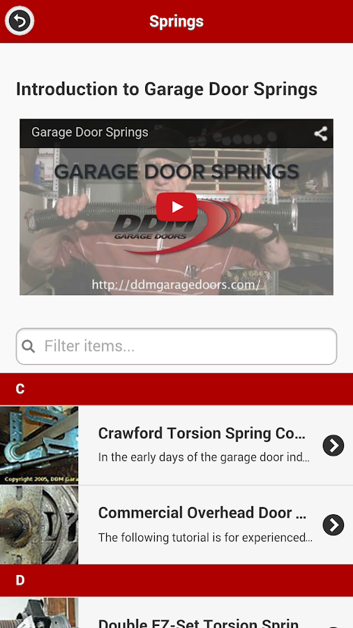 DDM Garage Doors- screenshot