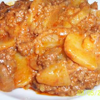 Hamburger Potato Hotdish.
