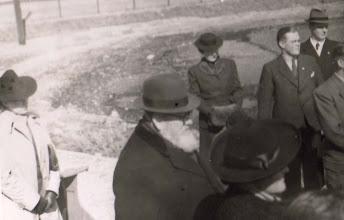 Photo: 1930-erne. Stauning på besøg i Kolding Roklub.