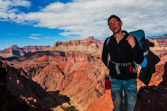 Photo: Daniele on the South Kaibab Trail down the South Rim of Grand Canyon National Park, Arizona, USA