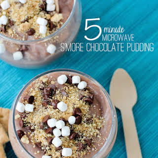 5 Minute Microwave Chocolate Pudding.