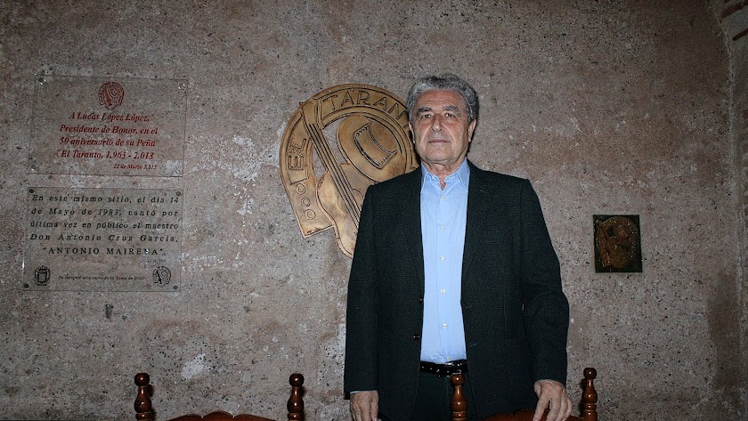 Rafael Morales, presidente de la Peña El Taranto.