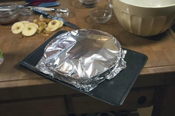 Cover with foil.