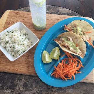 Simple Fish Tacos with Tomatillo Crema