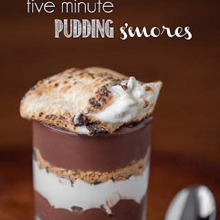Five Minute Pudding S'mores