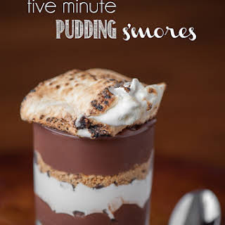 Five Minute Pudding S'mores.