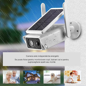 Camera de supraveghere IP Wireless HD cu panou solar