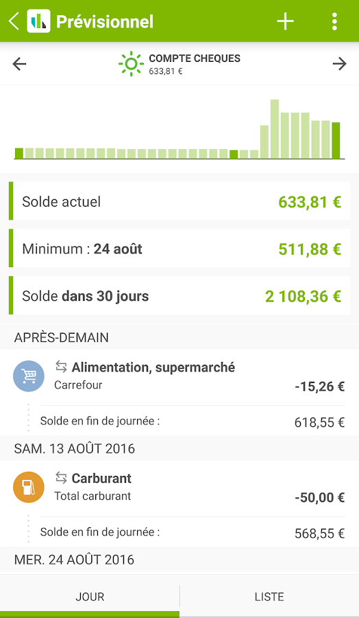 Fortuneo Budget- screenshot