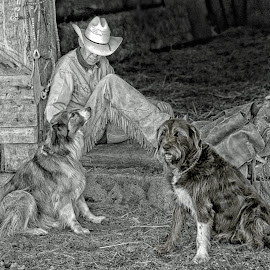 Ranch Hands by Twin Wranglers Baker - Black & White Portraits & People
