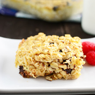 Overnight Chocolate Chip Cookie Baked Oatmeal Casserole