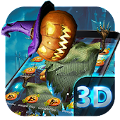 3D Horror Halloween Pumpkin Skin Theme