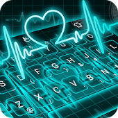 Neon Blue Heart Stylish Reading Android APK Download Free By Love Cute Keyboard