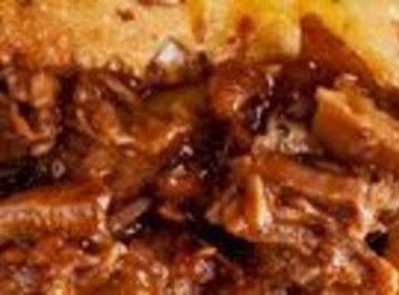 3 Ingredient Barbequed Pork In A Crockpot! Recipe