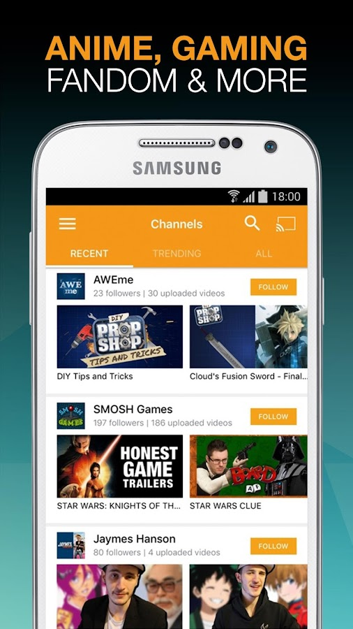 Viewster – Anime & Fandom TV- screenshot