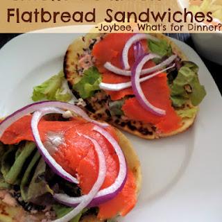 Smoked Salmon Mini Flatbread Sandwiches