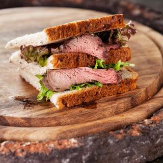 Triple-Bread Beef Sandwich