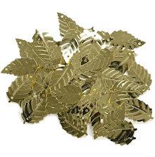 Leaf Sequins 2cm 50/Pkg - Gold UTGÅENDE
