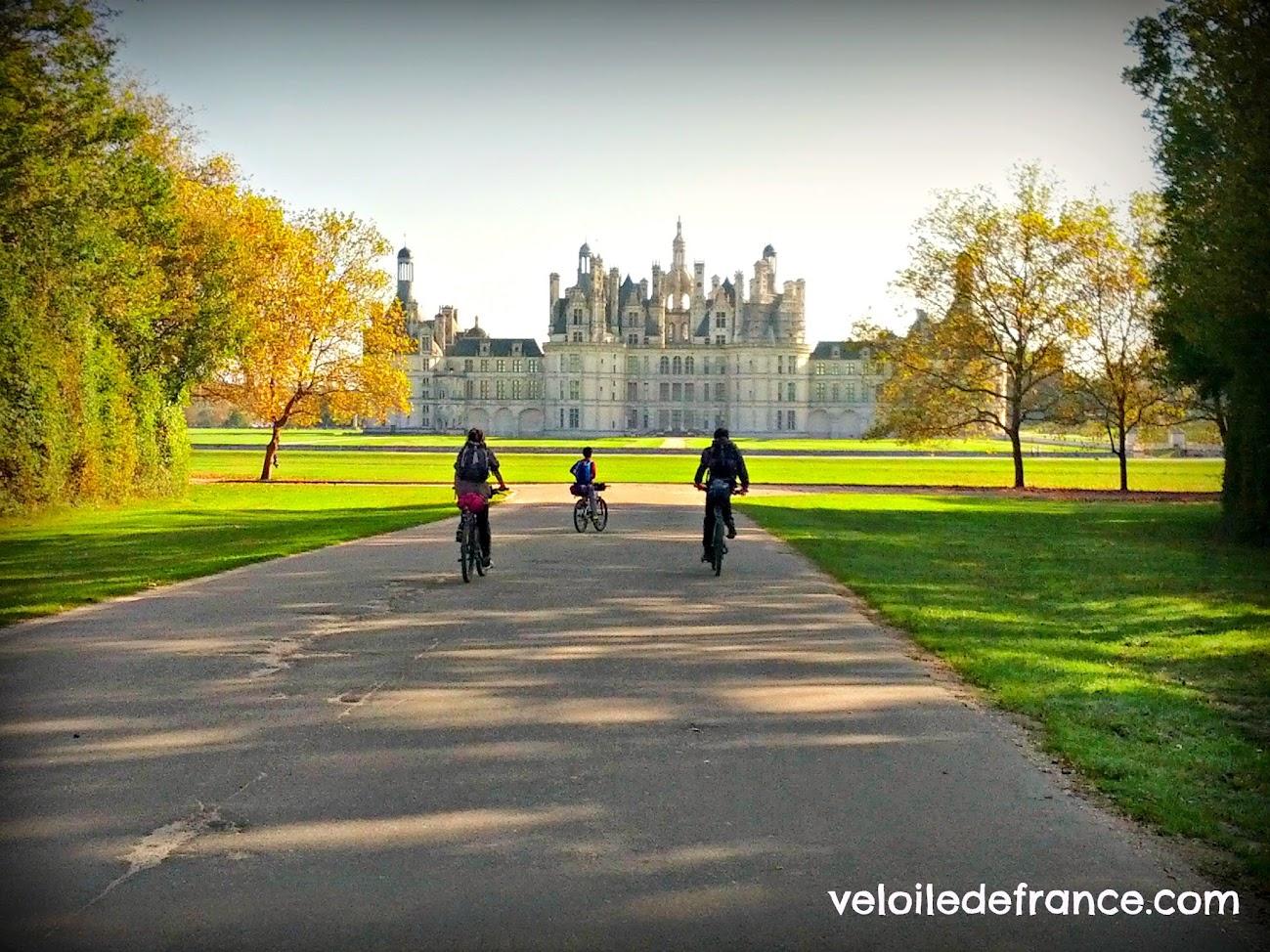 Circuit à vélo de Blois au château de Chambord par veloiledefrance.com