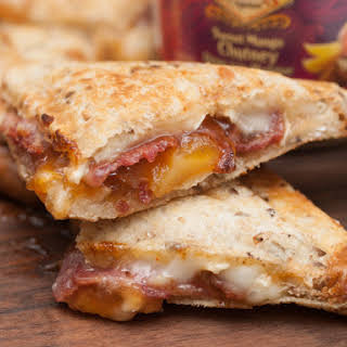 Bacon, Brie and Mango Grilled Sandwich.